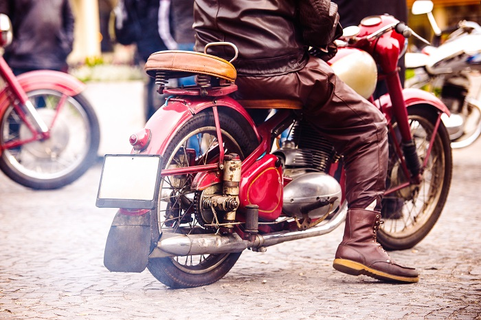 Back Vintage Motorcycle
