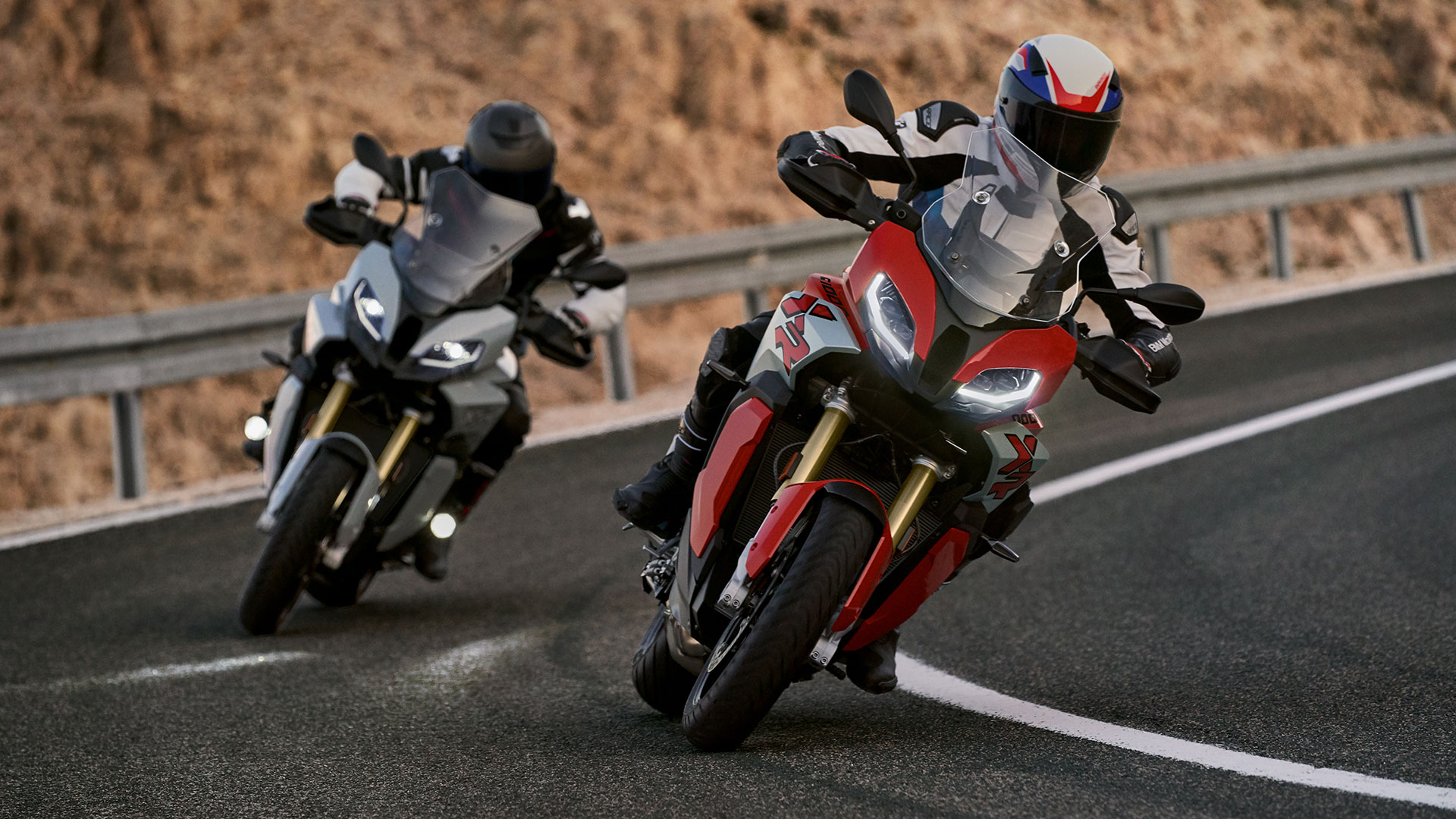 2020 BMW S 1000 XR Front Riding Red and Black Lineup Exterior Picture